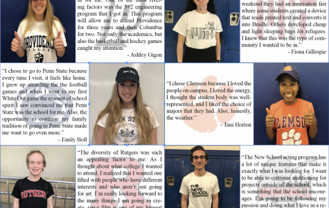 '18 students make their picks