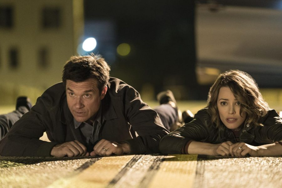 Jason Bateman and Rachel McAdams hit the deck.