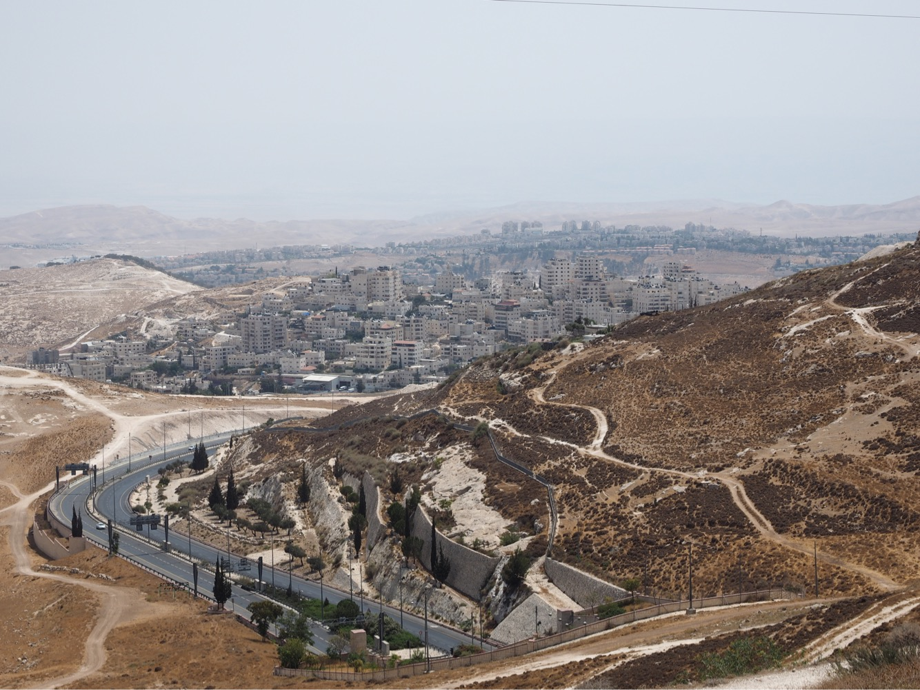 A view of Bethlehem from Palestinian territory.