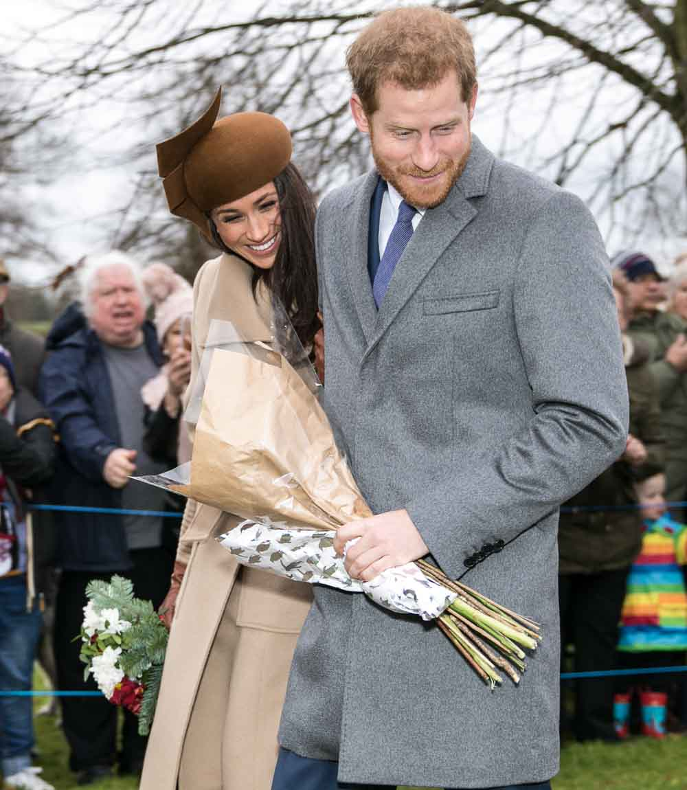 Meghan Markle and Prince Harry on Christmas Day 2017.