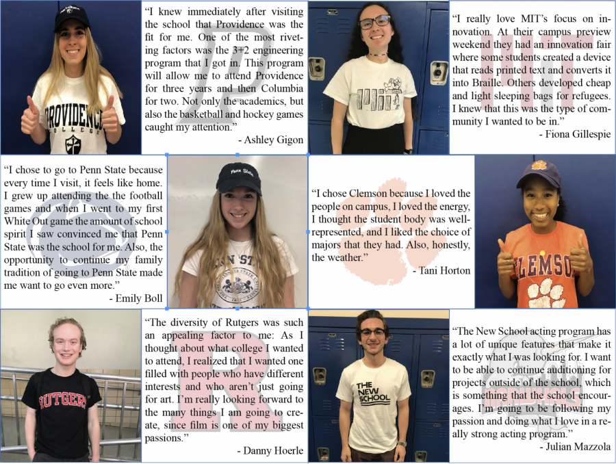 '18 students make their picks