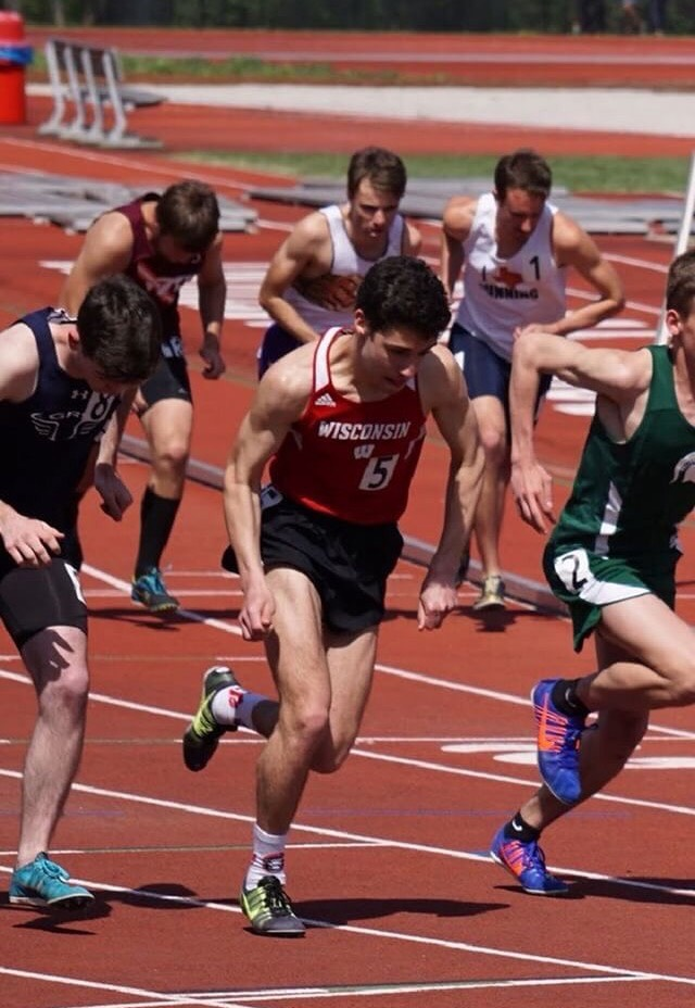 Bryan Jackler runs club track for the University of Wisconsin.
