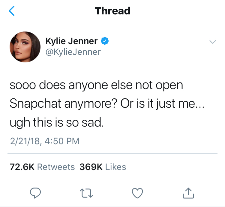 Kylie Jenner's Twitter Feed
