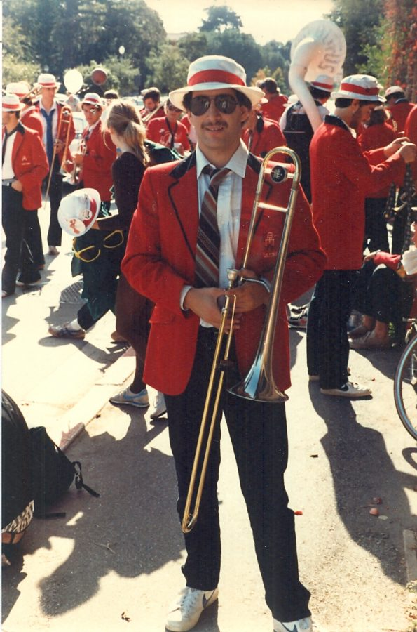 Dr.+Casagrande+in+his+Stanford+band+uniform+%0A