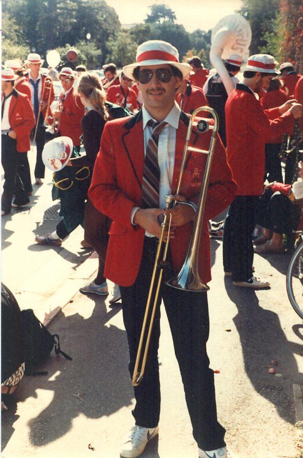 Dr. Casagrande in his Stanford band uniform