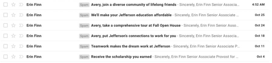 Dear college spam, let's break up