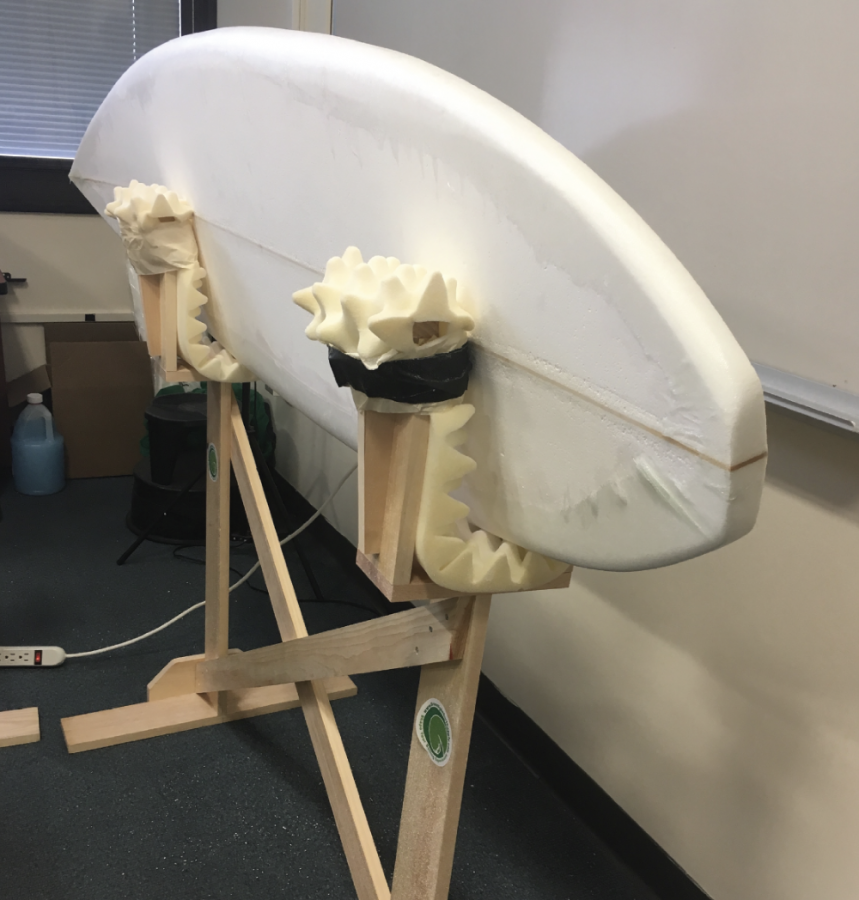 ASDC continues construction on handmade surfboard