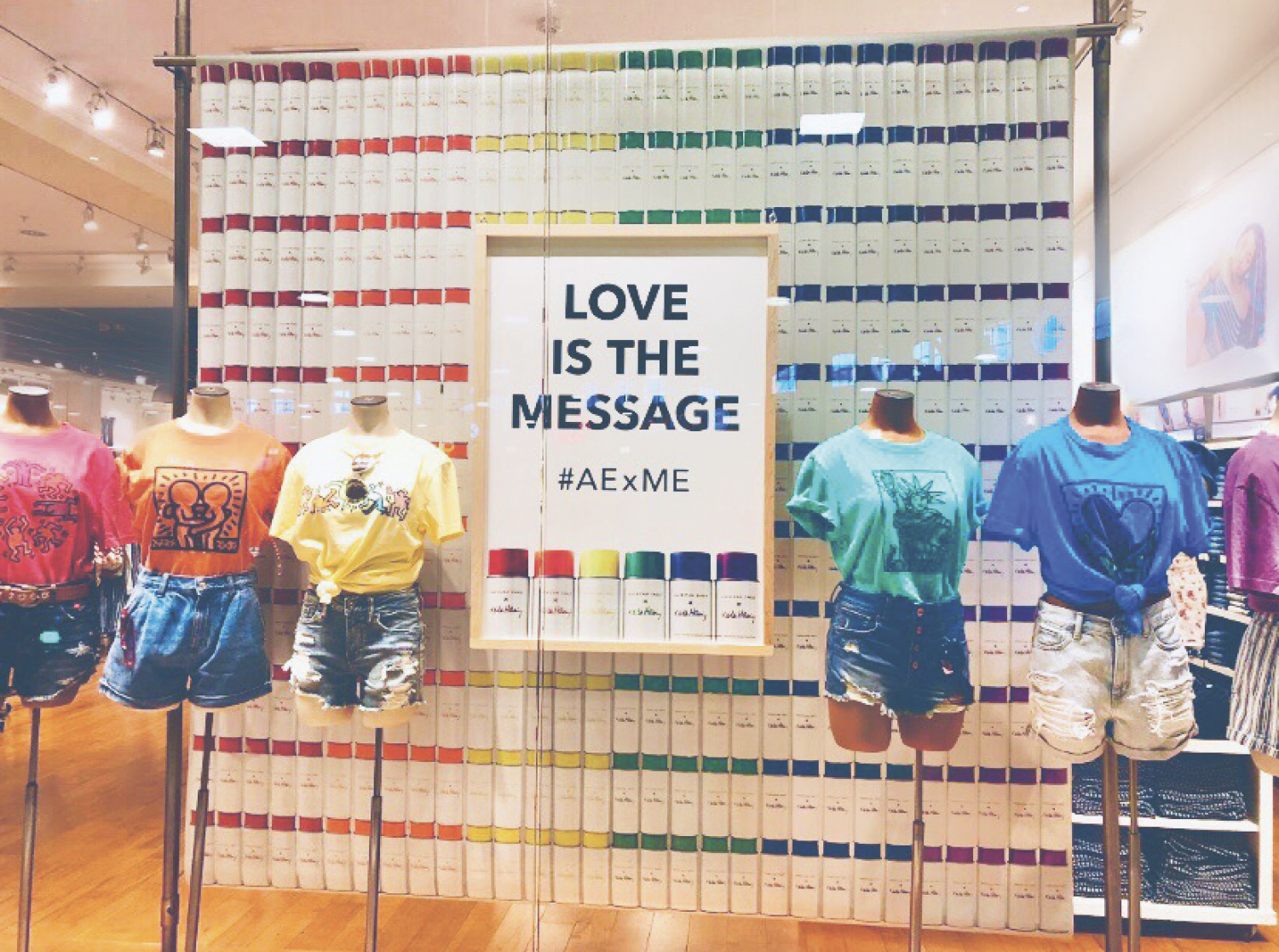 Pride display at American Eagle in the Monmouth Mall