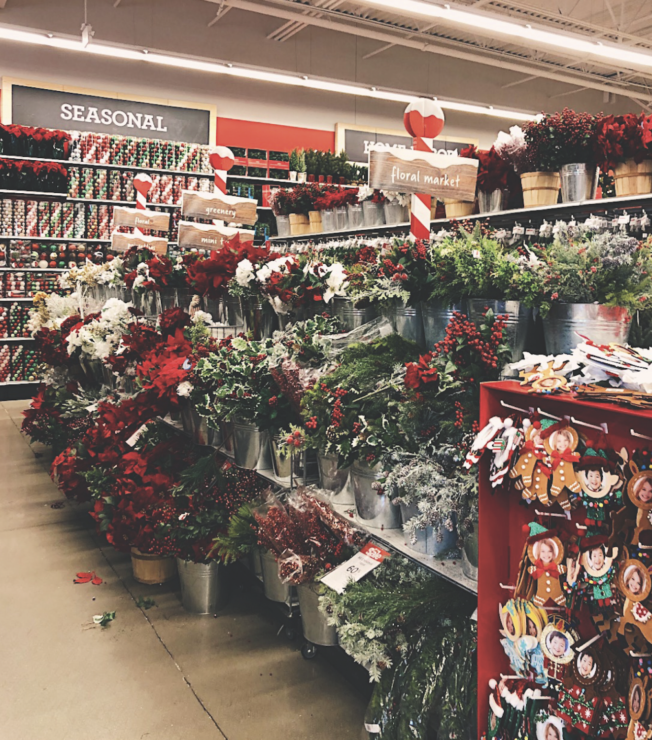 Christmas display at Michaels in Clark