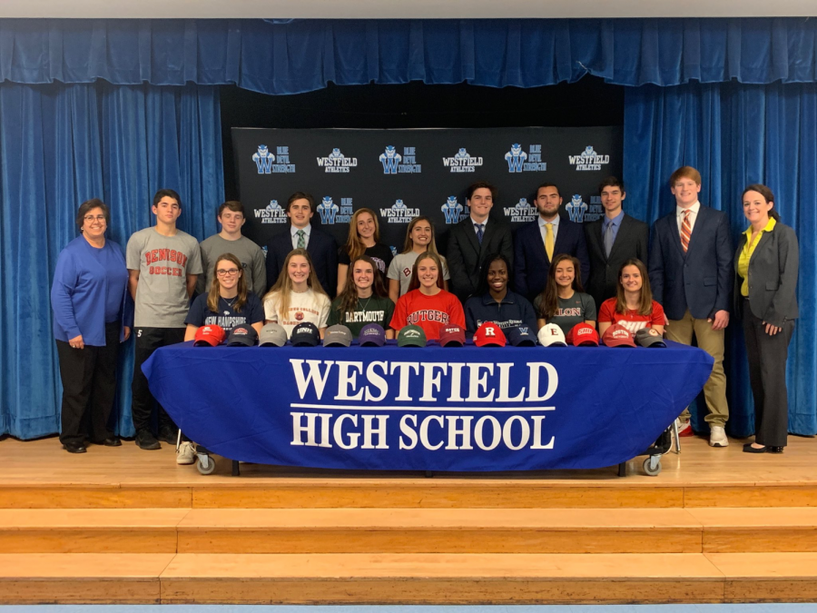 Athletes on signing day in November
