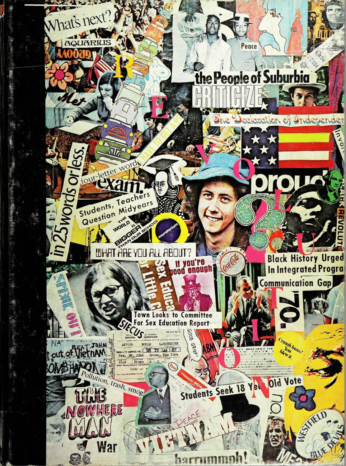 WHS yearbook cover in 1970