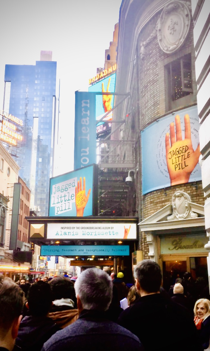 Jagged Little Pill Broadway marquee