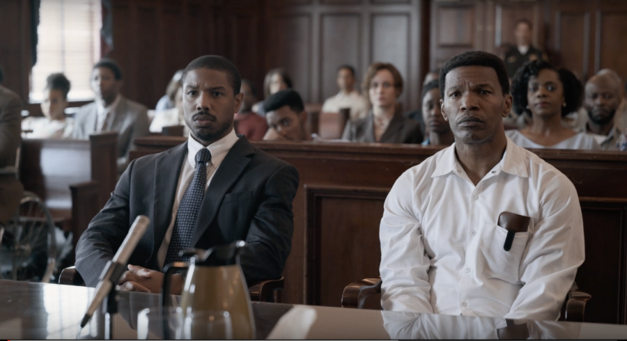 Courtroom scene from Just Mercy