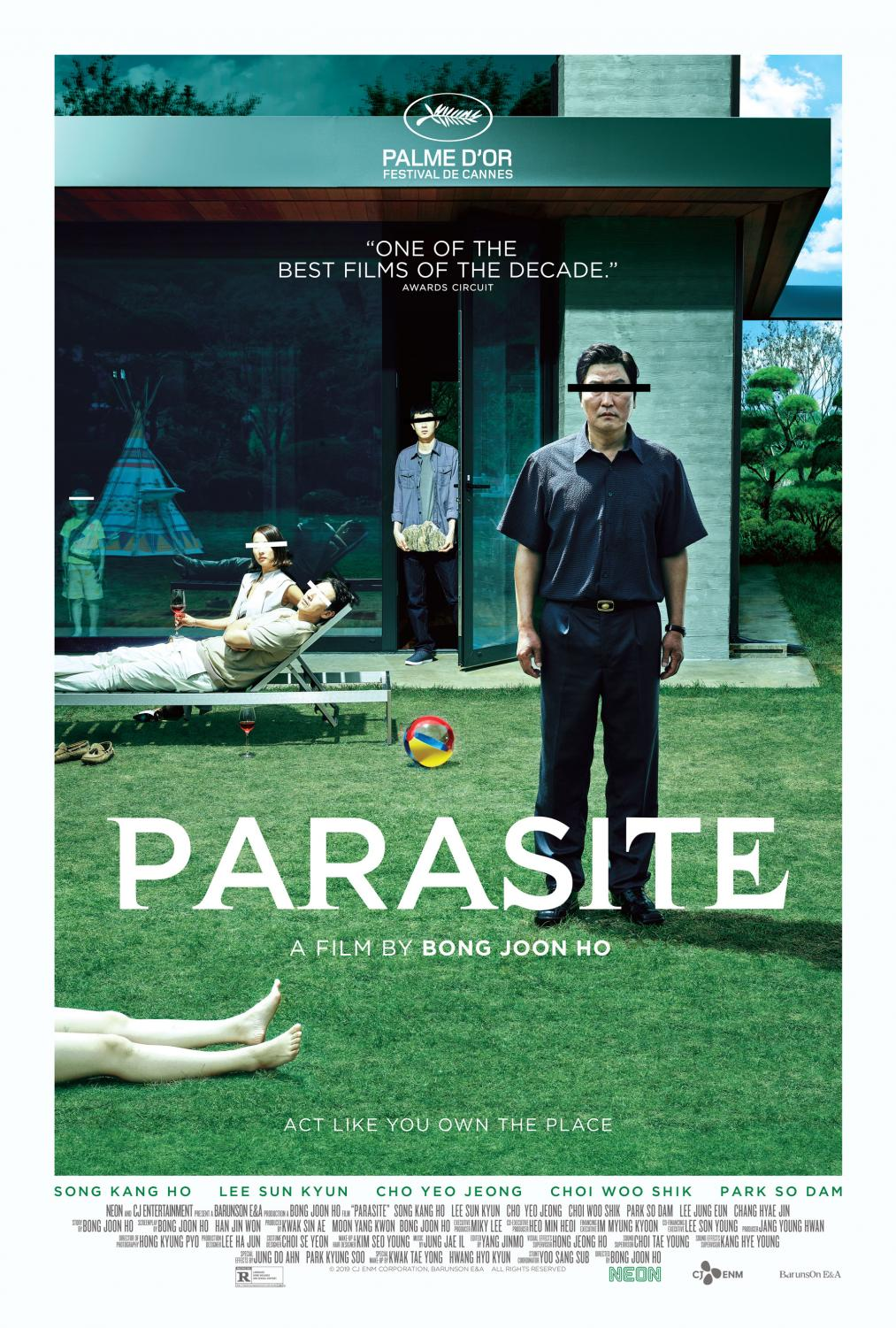 Movie poster for the film Parasite