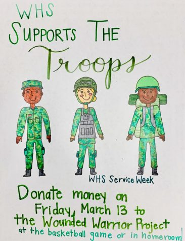 Community service week supports troops