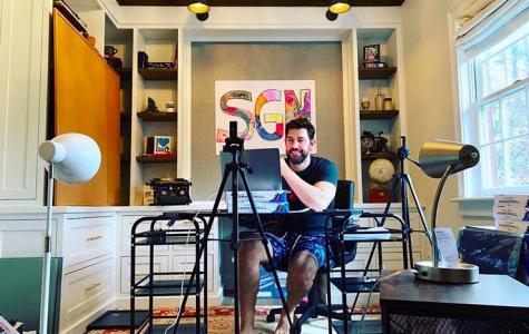 John Krasinski filming for Some Good News