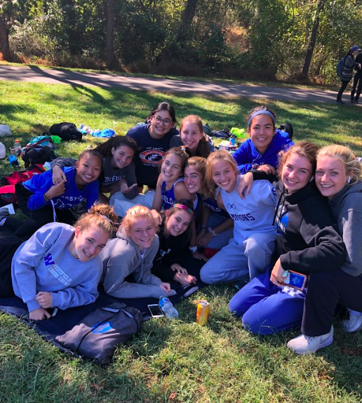 Girls cross country team at Holmdel Park