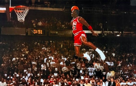 Michael Jordan flies high