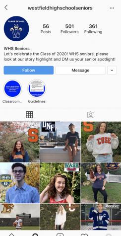 Screen grab of  WHS seniors Instagram.