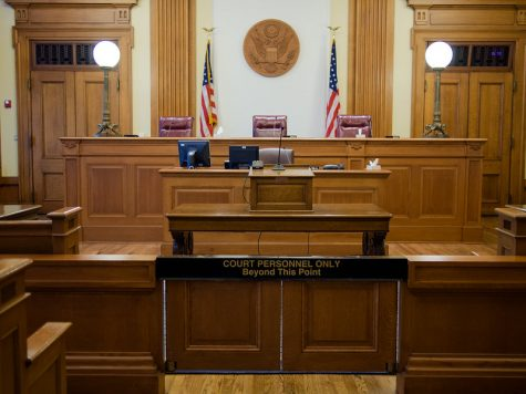 Courtroom for legal proceedings