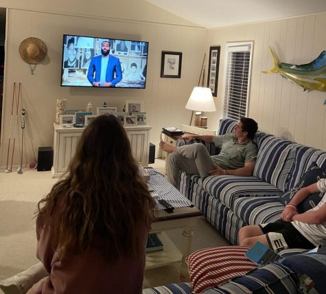 Dursee family watching #GraduateTogether