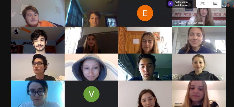 Screenshot of English class Google Meet