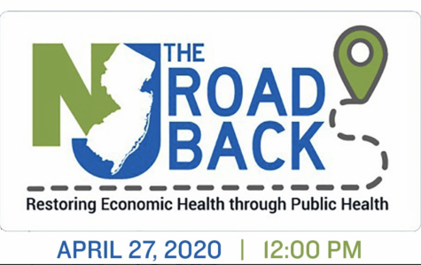 """The logo for Governor Phil Murphy's """"The Road Back""""."""
