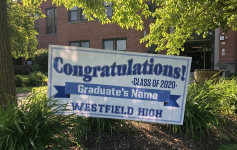 WHS class of 2020 graduation sign