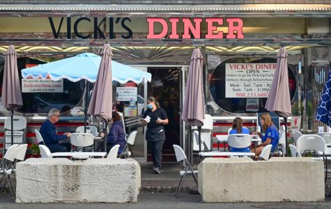 Outdoor Seating at Vicki's Diner