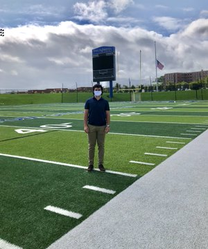 Daniel Shakal on a recruiting visit at Franklin and Marshall College