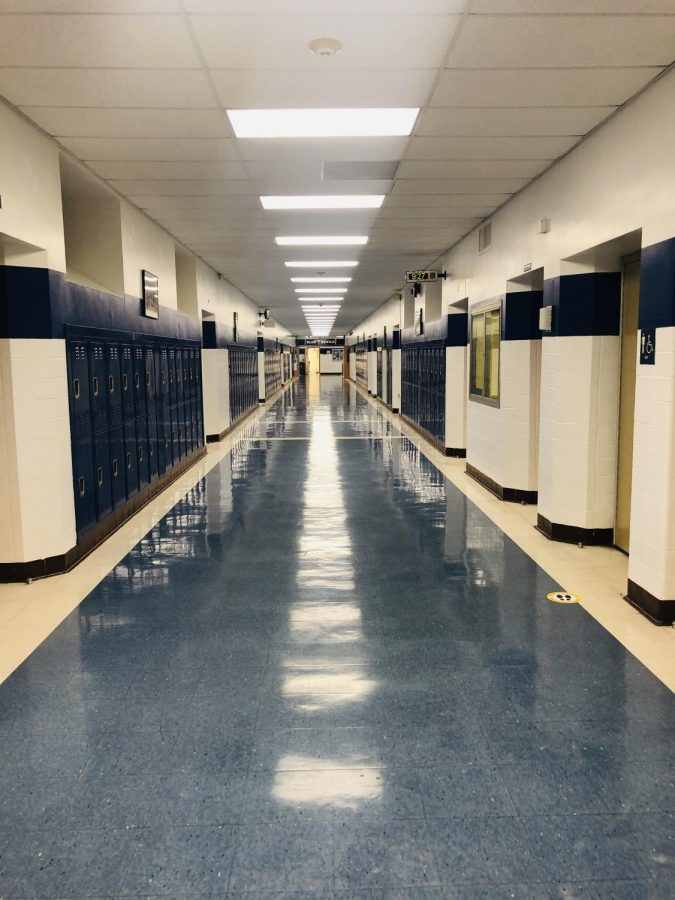 Empty hallway at WHS