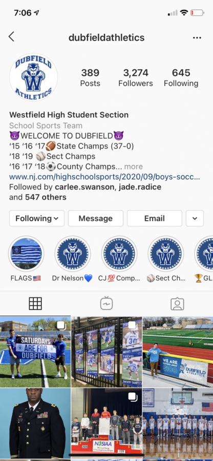 Dubfield's Instagram account