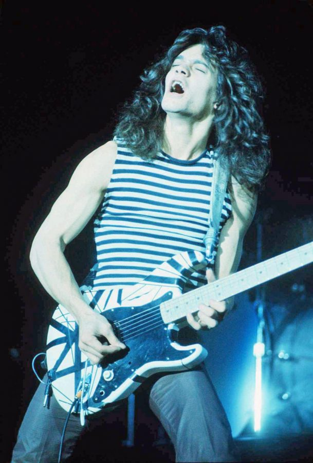Eddie Van Halen performing at the New Haven Coliseum.