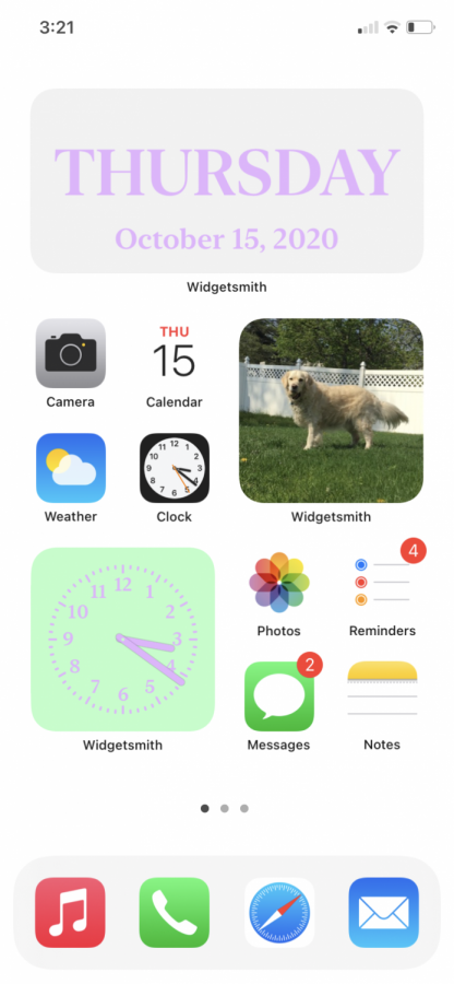 iOS 14 home screen