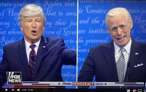 Screengrab of Alec Baldwin and Jim Carey on SNL