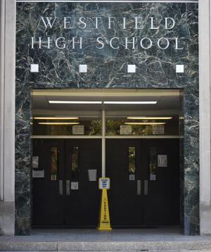 The entrance at WHS