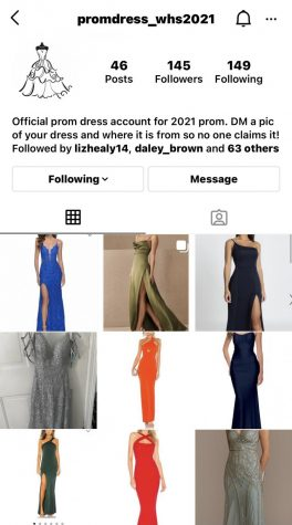 WHS prom dress Instagram account