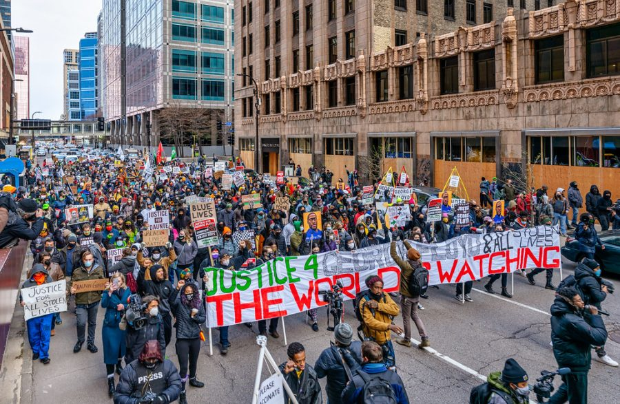 Justice for George Floyd march through Minneapolis