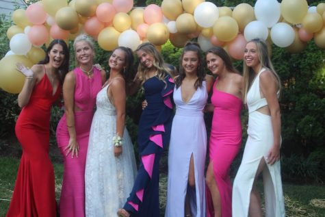 WHS class of 2020 getting ready for their backyard prom last year.