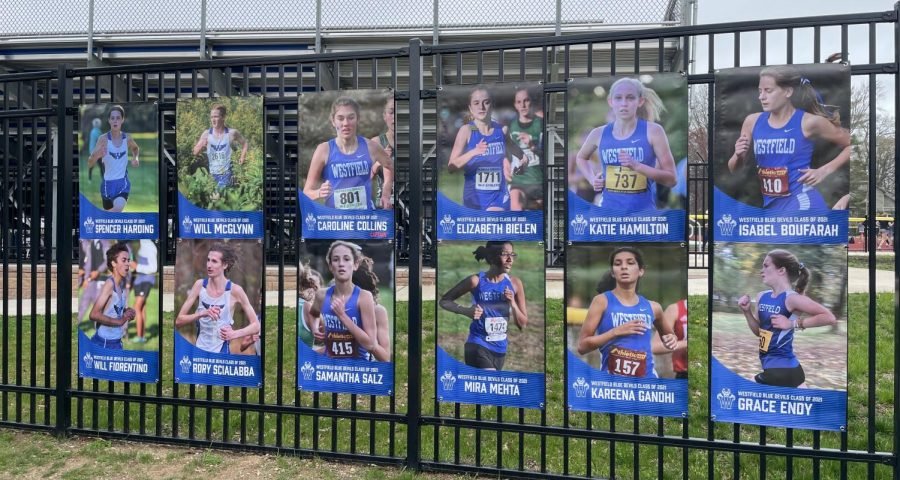 Senior fall sports signs at Kehler