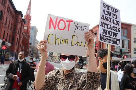 STOP ANTI-ASIAN RACISM & CHINA BASHING RALLY at Chinatown Archway at 7th and H Street, NW, Washington DC on Saturday afternoon, 27 March 2021