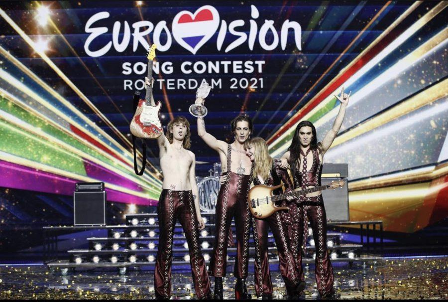 Italian band Maneskin after winning Eurovision