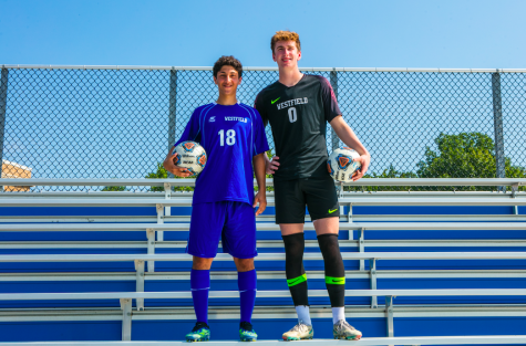 WHS soccer co-captains (pictured left to right) Max Rokhsar and Ryan Friedberg