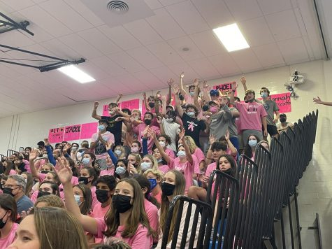 The student section at the Pink Out game on Oct. 11